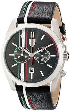 Ferrari Men's 830237 D 50 Stainless Steel Watch with Striped Leather Band - https://www.caraccessoriesonlinemarket.com/ferrari-mens-830237-d-50-stainless-steel-watch-with-striped-leather-band/  #830237, #Band, #Ferrari, #Leather, #MenS, #Stainless, #Steel, #STRIPED, #Watch #Enthusiast-Merchandise, #Ferrari