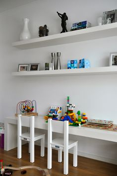 Stylish kids corner for in the living room