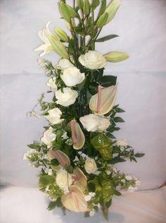 Composition florale blanc vert 'Céleste'