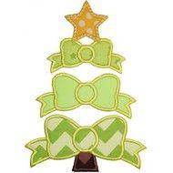 Bow Tree Applique