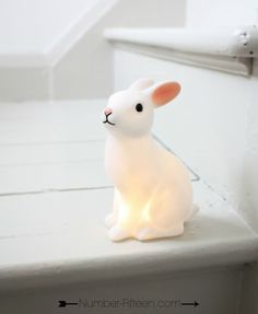 BUNNY RABBIT NIGHT LIGHT - Number Fifteen
