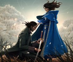Wheel of Time - NewSpring (cover art by JasonChan) Lan and Moiraine