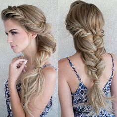what a gorgeous and romantic bridal braid!  ~  we ❤ this! moncheribridals.com