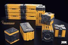 ArtStation - Doom 4 Crates, Reno Levi