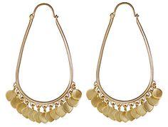 10K Gold Medium Oval Hoop Earrings with Lotus Petals