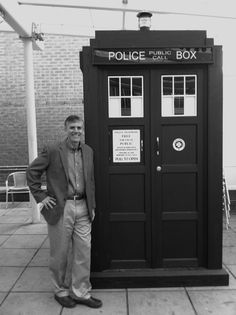 Guys, this is Rick Riordan with a TARDIS.<.......  Riordan is a Whovian!