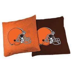 Wild Sports Cleveland XL Bean Bags, Orange