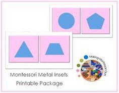 Montessori Printable Metal Insets