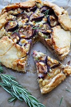 Oleander and Palm: Rosemary, Goat Cheese and Fig Galette