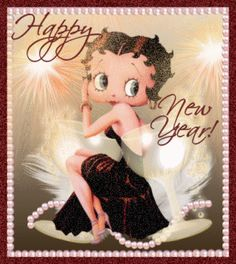 Betty Boop Free Animated Wallpaper screensavers | Betty Boop Pictures Archive: Betty Boop New Year's Eve animated gifs