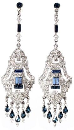Ben-Amun Sapphire Chandelier Earrings. At Charm and Chain.