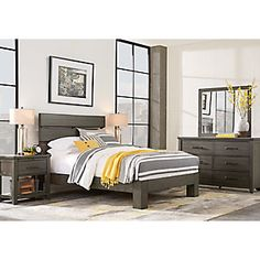 Urban Plains Gray 5 Pc King Slat Platform Bedroom .1299.99. Find Affordable  King Bedroom Sets For Your Home That Will Complement The Rest Of Your  Furniture.