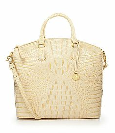 Brahmin Melbourne Collection Large Duxbury Satchel #Dillards. Love it in Pecan.