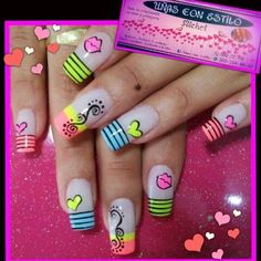 Hermosas Manicure Nail Designs, Diy Manicure, Nail Art Designs, Chic Nails, Fun Nails, Pretty Nails, Beautiful Nail Designs, Beautiful Nail Art, Teacher Nails
