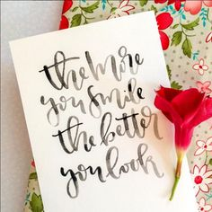 Hand Lettering - Modern Calligraphy