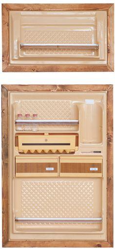 Vintage GE Refrigerator turned pantry As seen on  - ikea sideboard k amp uuml che