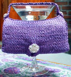 Free Knitting Pattern - Bags, Purses & Totes: On the Moon Purse