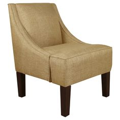 Swoop Arm Chair - Glitz Filbert - Skyline Furniture