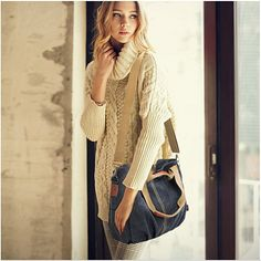 Buy Natural Cotton Venture Bag by Amaryllis on OpenSky