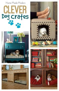 hidden dog crates