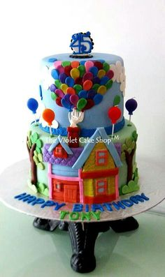UP! cake by thevioletcakeshop Fancy Cakes, Cute Cakes, Yummy Cakes, Cake Decorating Courses, Cake Decorating With Fondant, Decorating Ideas, Cupcake Party, Cupcake Cakes, Cupcake Ideas