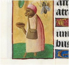 Looks well dressed for a beggar, a pilgrim perhaps? British Library Add MS 35313 http://www.bl.uk/manuscripts/Viewer.aspx?ref=add_ms_35313_f068v