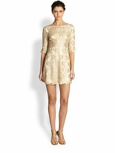 I LOVE THIS. Please, someone, claim it.  ABS A-Line Lace Dress $217 marked down from 300