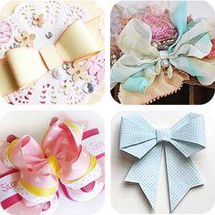 fiocchi di carta e di stoffa handmade