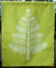 Oh Christmas Tree Quilt Kit (Glow in the dark) at Gail Kessler's LadyfingersSewing.com