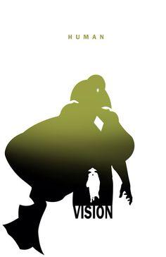 Superhero Silhouette: Vision