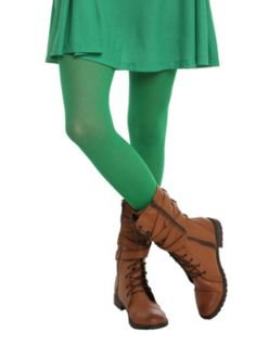 LOVEsick Solid Green Tights @hhersch424  Hottopic