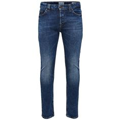 Only and Sons Men's Slim-Fit Denim Jeans ($69) ❤ liked on Polyvore featuring men's fashion, men's clothing, men's jeans, blue, mens slim jeans, mens faded jeans, mens blue jeans, mens slim cut jeans and mens zipper jeans