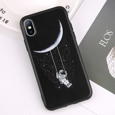 iPhone Cute Phone Cases - TouchyStyle - iPhone Cute Phone Cases Clear Space Phone Case For iPhone 6 7 8 Plus X XR XS Max Coque Frosted Fundas Moon Astronaut Cover For iPhone 5 SE Outfit Accessories From Touchy Style Iphone 7, Iphone 6 Phone Cases, Girly Phone Cases, Funny Phone Cases, Phone Cases Marble, Diy Phone Case, Coque Iphone, Iphone Case Covers, Galaxy S3