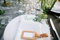 Travel inspired wedding table setting. Anna Kim Photography