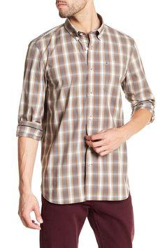 Long Sleeve Plaid Standard Fit Shirt