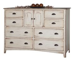 """Amish Concord 44"""" High Dresser with Optional Mirror is the ultimate in storage for a cottage-style bedroom."""