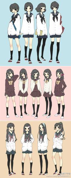 短发、中发、长发你最萌哪一个?ฅ^._.^ฅ