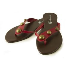 86111efa5 INFRADITO OFELIA ROSSO NR. 37 - Infradito decorati da borchie in metallo  bronzato. Suola in gomma. Taglia  37. Flip FlopsFlip Flop Sandals