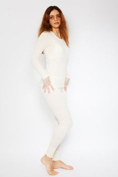 55011d2a93f47 Merino and silk clothing set for women #merinowool #silk #whiteclothes # thermal #