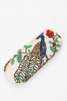 Beaded Bird Eyeglass Case