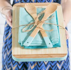 Can't go wrong with cutting boards! Add a dish towel and some wooden spoons to spruce it up. ~ahwav
