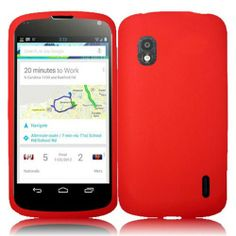SOFT SILICONE GEL RUBBER SKIN PHONE CASE COVER FOR LG NEXUS 4 E960 - RED $4.99 Price: