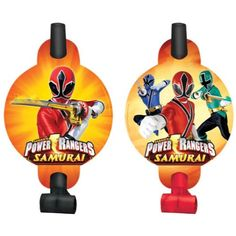 50% Off was $4.00, now is $1.99! Power Rangers Samurai Blowouts (8) (Red) Party Accessory