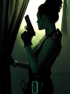Fury [David Bichos' 'Modern Modesty Blaise' Photoshoot, an apropos image contribution from Yarrow Kae]