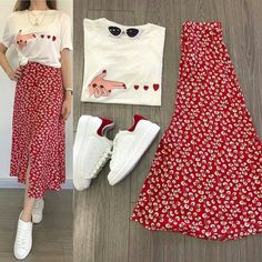 Ideas For Fashion Outfits Hijab Rok Modest Dresses, Modest Outfits, Skirt Outfits, Modest Fashion, Skirt Fashion, Hijab Fashion, Trendy Outfits, Korean Fashion, Summer Outfits