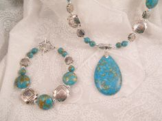 Necklace and bracelet set  Mosaic by LISASBEADINGBOUTIQUE on Etsy, $25.00 Donating this lovely mosaic jewelry set for the FFCS raffle! https://www.etsy.com/shop/LISASBEADINGBOUTIQUE