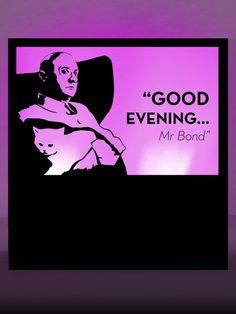 Good Evening Silhouette Panel Prop   James Bond Party Theme   James Bond Party Theming Hire   Event Prop Hire