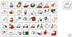 Cute White Bunny now available as sticker on line store. type http://line.me/S/sticker/1164769