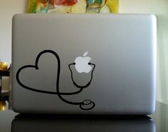 Apple Macbook Vinyl Decal Sticker - Stethoscope Heart