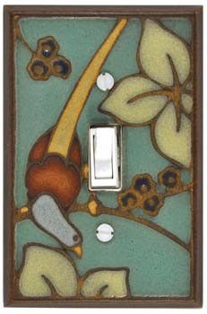 """Bird on Branch"" Single Light Switchplate"